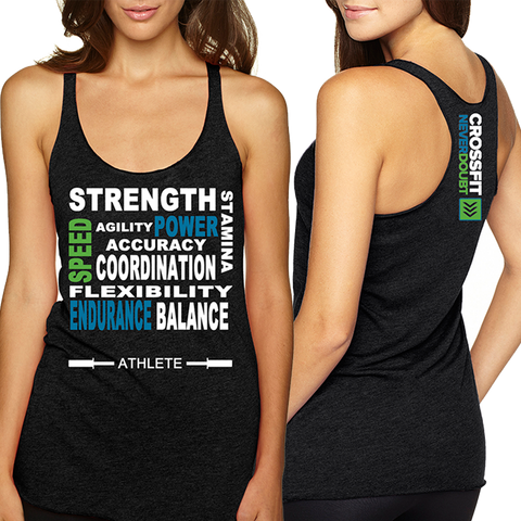 CrossFit NeverDoubt Athlete Ladies Tri-Blend Tank Top