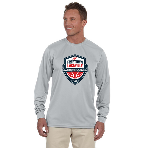 FLBC Grey Warmup Shirt Wicking Long Sleeve 100% Polyester **ADULT & YOUTH SIZES**