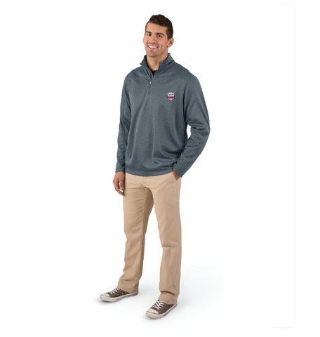 FLBC Grey Mens 1/4 Zip Stealth Pullover