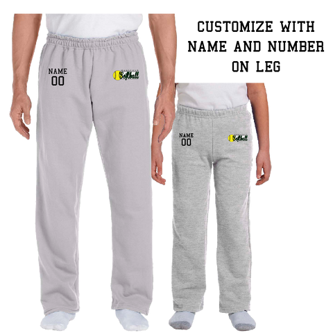Mansfield Girls Softball CUSTOMIZABLE Sweatpants