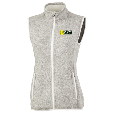 Mansfield Girls Softball 1/4 Zip Ladies Vest
