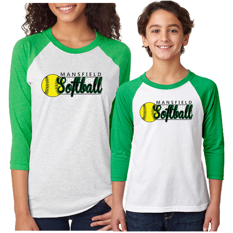 Mansfield Girls Softball Baseball T-Shirt