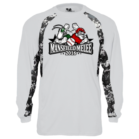 Mansfield Melee Digital Hook Long Sleeve T-Shirt