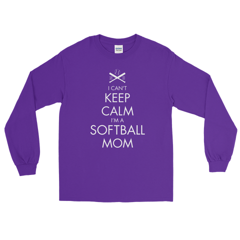 FAN GEAR Norton Baseball I Can't Keep Calm Softball Mom T-Shirt