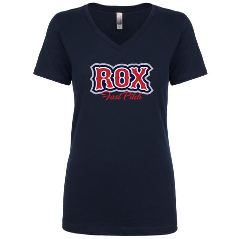 The Rox Ladies V-Neck T-Shirt
