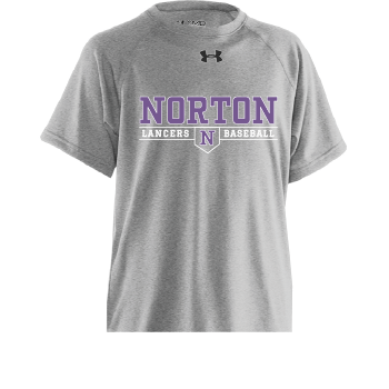 Norton Baseball/Softball UA Performance Grey/Purple Locker T-Shirt