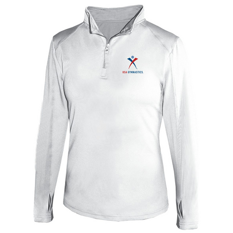 USA Gymnastics Polyester Quarter Zip