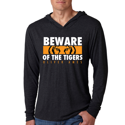 Oliver Ames Beware of the Tigers Light Weight Hoodie