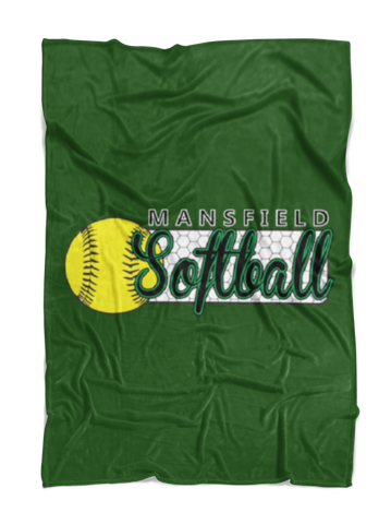 Mansfield Girls Softball Plush Blanket