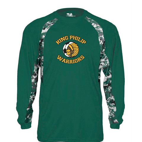 King Philip Soccer Camo Hook Long Sleeve T-Shirt