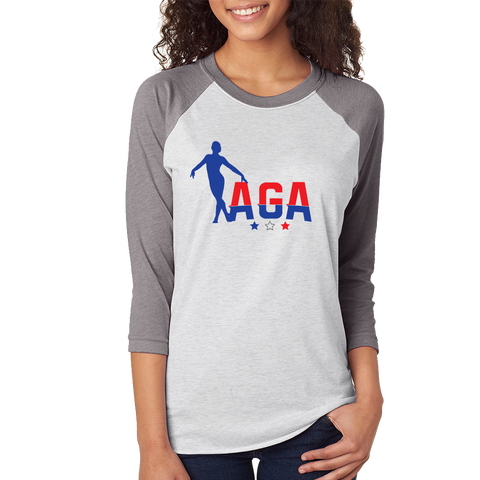 AGA Gymnastics Baseball Style 3/4 Sleeve *ADULT & YOUTH SIZES*