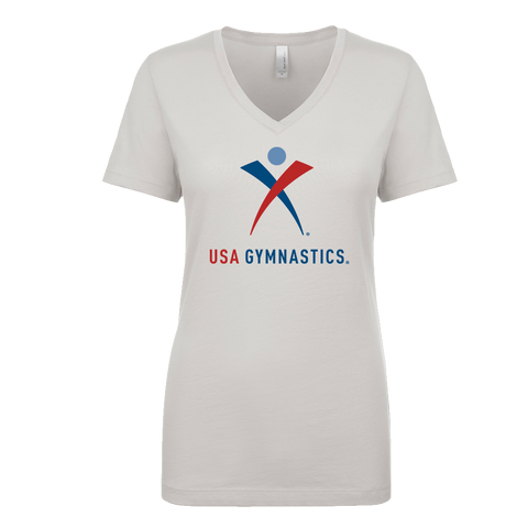 USA Gymnastics Ladies V-Neck T-Shirt