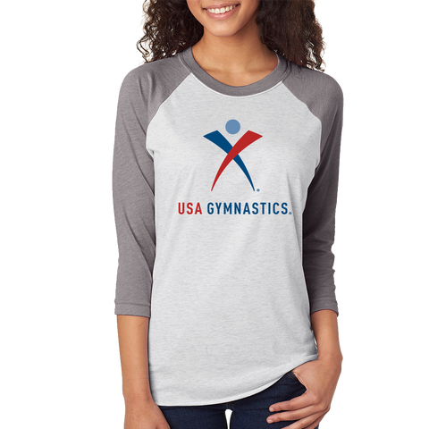 USA Gymnastics Baseball Raglan *ADULT & YOUTH SIZES*