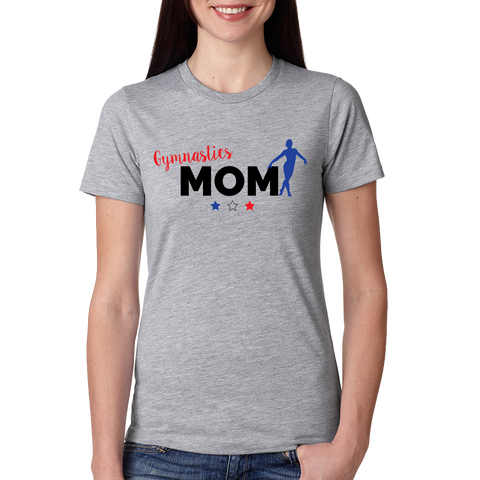 AGA Gymnastics Gym Mom Ladies T-Shirt