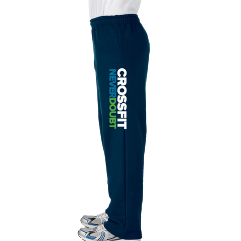 CrossFit NeverDoubt Mens Open Bottom Sweatpants