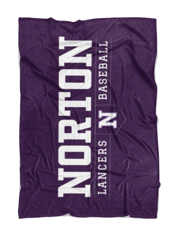 Norton Baseball Plush Blanket