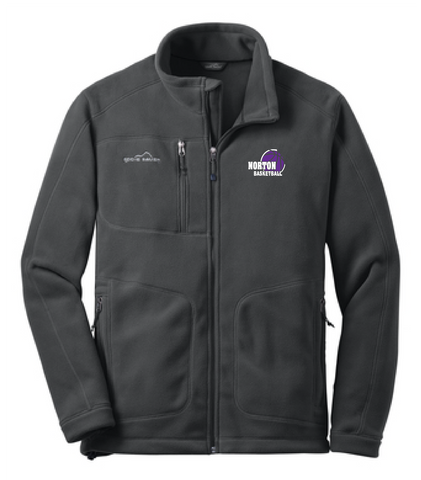 Norton Basketball Eddie Bauer® - Wind-Resistant Full-Zip Fleece Jacket **MEN'S & LADIES STYLE**