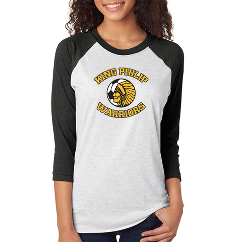 King Philip Soccer Baseball Raglan T-Shirt