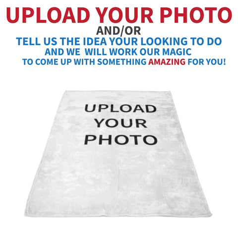 Upload Your Photo or Design Blanket