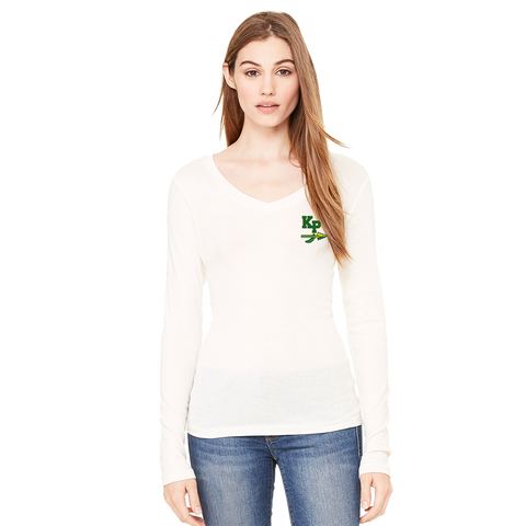 King Philip Ladies Long Sleeve V-Neck