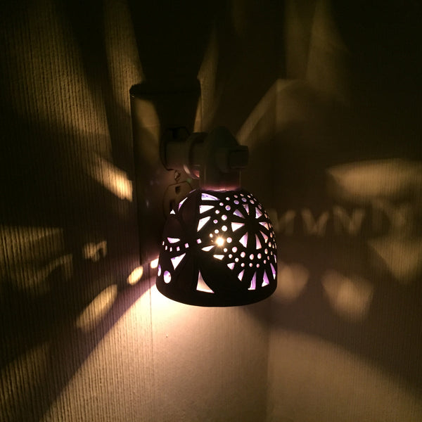 round night light with sun and double dragonfly