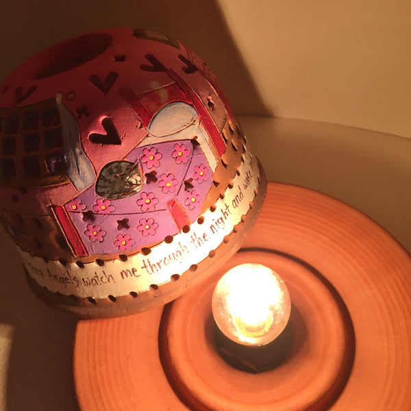StarLight night lamp/ now I lay me down to sleep....pink
