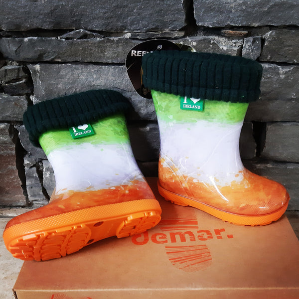 Irish Flag Welly boots
