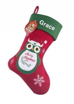 Merry Christmas Owl Stocking