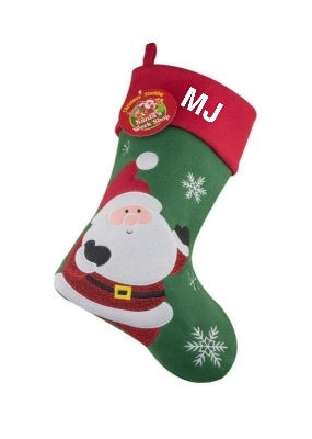 Glitter Santa Christmas Stocking