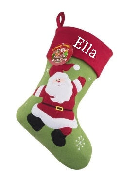 Jolly Santa Christmas Stocking