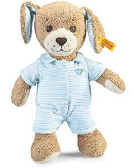 "Steiff 239687 ""Steiff Goodnight Dog"" 11"" (28cm) tall. Blue"
