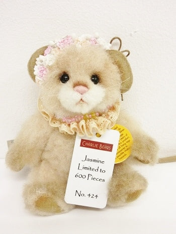 "Charlie Bear ""Jasmine"" Minimo,5.5""(14cm) tall. L/E 424/600.RRP £80. Now £60 Actual Photo"