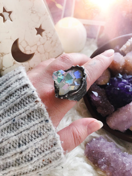 Angel Aura Cluster Ring