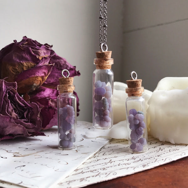 Grape Agate Bottle Necklace