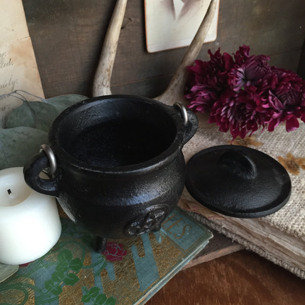 Pentacle Cast Iron Cauldron