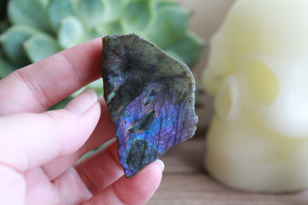 Purple and Teal Labradorite Free Form