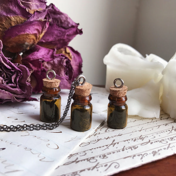 Black Witch's Salt Bottle Necklace No. 6