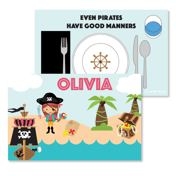 Pirate (Girl) Manners Mat