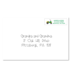 Children's Return Address Labels - Tractor