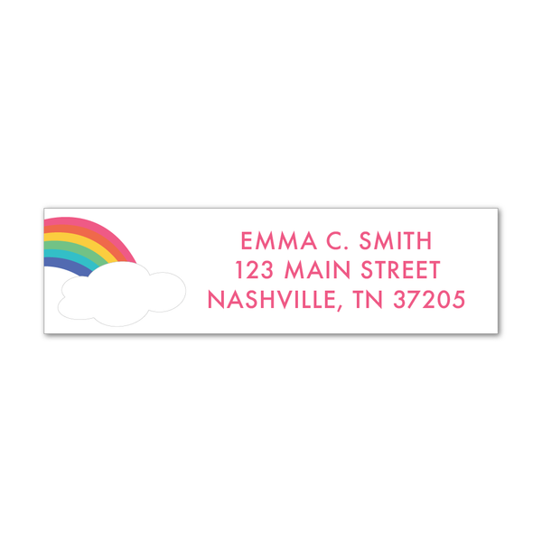 Children's Return Address Labels - Rainbow