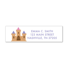Children's Return Address Labels - Castle