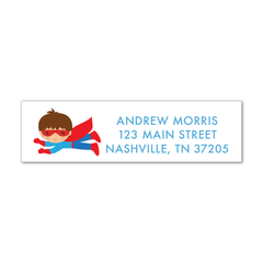Children's Return Address Labels - Superhero (Boy)