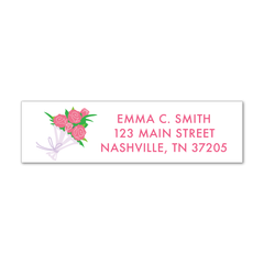Children's Return Address Labels - Flowers