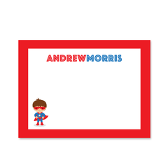 Childrens Flat Card - Superhero (Boy)