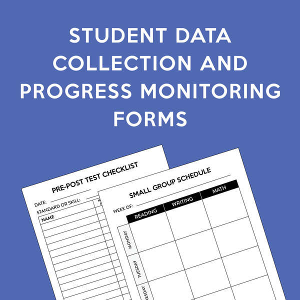 Student Data Blackline Masters Set
