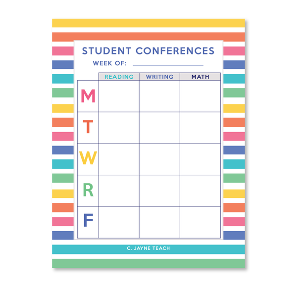 Notepad - Student Conferences