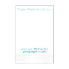 Teacher Contact Notepad - Dot