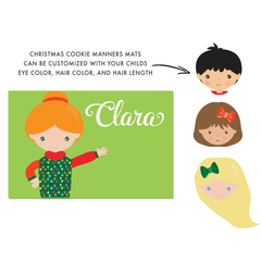 Christmas Manners Mats (Girl)