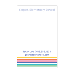 Teacher Contact Notepad - Stripe