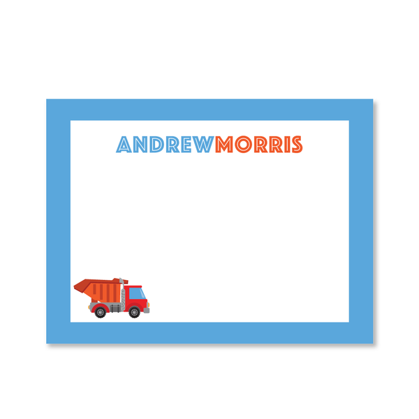 Childrens Flat Card - Truck